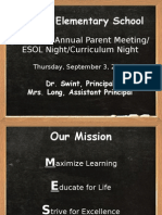 title i annual parent mtg curriculum night 15-16