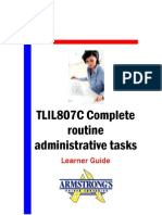 TLIL807C - Complete Routine Administrative Tasks - Learner Guide