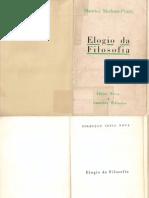MERLEAU-PONTY Maurice_Elogio Da Filosofia_Guimaraes1958