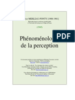Phonomenologie de La Perception