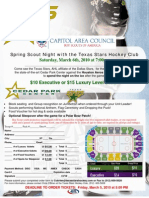 Spring Scout Night With the Texas Stars