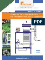 Extractor de Aceites Esenciales Por Arrastre Por Vapor Escala Laboratorio