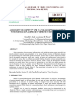 ASSESSMENT OF SORPTIVITY AND WATER ABSORPTION OF MORTAR