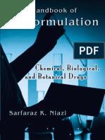 Handbook of Preformulation Chemical Biological and Botanical Drugs