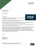 Letter to Judge Hamner from Alabama Media Group