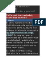 Articulo Bernanrdo Kligksberg No. 3 ¿Por qué la actual crisis económica mundial?