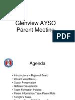 Glenview AYSO Parent Presentation 2015