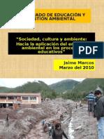 Sociedad, Cultura y Ambiente -Jaime Marcos