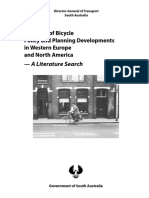 A Review of Bicycle Policy and Planning Developments in Western Europe and North America