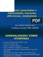 Vitaminas Liposolubles e Hidrosolubles Funciones Deficiencias Rosio Pando Lazo