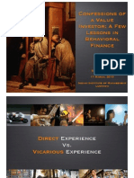 Confessions of a Value Investor a Few Lessons in Behavioral Finance