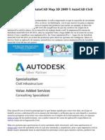 Nuevas Versiones AutoCAD Map 3D 2009 Y AutoCAD Civil 3D 2009