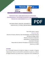 Propuesta Para La Implementación de Un Programa Psicopedagógico y Un Sistema de Registro Como Apoyo en El Proceso de Acompañamiento de La Tutoría