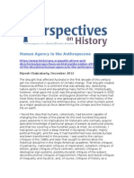Human Agency in the Anthropocene