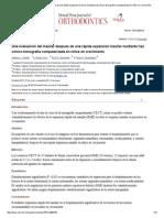 Una Evaluación Del Maxilar Después de Una Rápida Expansión Maxilar Mediante Haz Cónico Tomografía Computarizada en Niños en Crecimiento