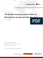 Russia Outlook Best practice during and after crisis