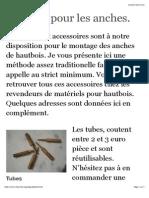 Matériel Pour Les Anches. - Chez Vintz