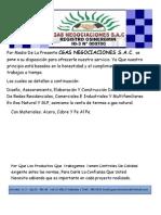 CGAS NEGOCIACIONES