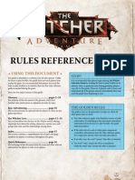 The Witcher Rules Reference Guide Eng