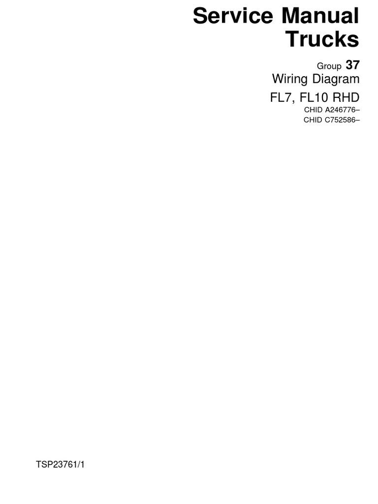 Tsp23761-Wiring Diagram Fl7, Fl10 Rhd | Fuse (Electrical) | Anti Lock  Braking System | Volvo Fl7 Wiring Diagram |  | Scribd