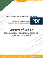 Artes Cênicas - Ação Arte-Educação
