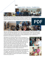 08 Aug Reeves News from Trujillo, Peru