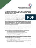 Precisiones Sobre Evaluaciones Diagnosticas 2015-2016