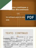 Textos Continuos y Discontinuos