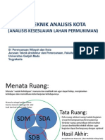 S1 Analisis Kesesuaian Lahan Permukiman