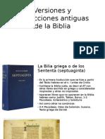 Versiones y Traducciones Antiguas de La Biblia