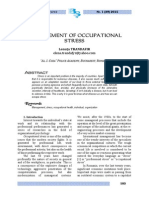Management of Occupational Stress