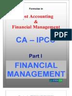 CA Ipcc Fm Formulae
