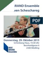 Steven Scheschareg & MAX BRAND Ensemble im Schönberg-Haus
