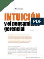 Intuicion y Pensamiento Gerencial