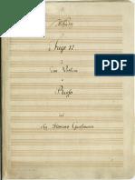 Gassmann 12 Fugues 2 Violins Basso