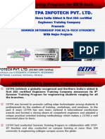 Summer Training & internship for BE/B-tech Engineering students