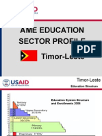 Education Sector Profile- Timor Leste