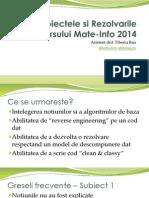 Rezolvari Mate Info 2014