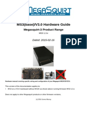 ms3basev30 hardware 1 3 fuel injection electrical connector  microsquirt hardware manual