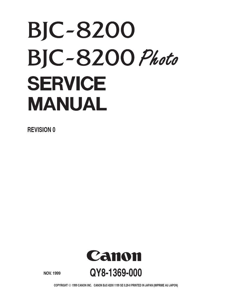 Canon BJC-8200 Service Manual.pdf | Electrical Connector | Printer  (Computing)