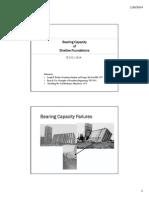 Bearing Capacity Lecture 2014