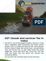 GST and its effects on industries like Manufacturing, Goods Transportation Services etc.