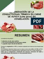 Determinación de La Conductividad Termica en Carne de Alpaca