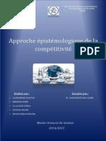 Approche Épistémologique de La Compétitivité