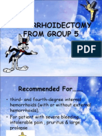 Hemorrhoidectomy From Group 5