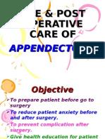 Pre & Post Operative Care of Appendicectomy
