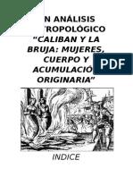 0un an Lisis Antropologico de Caliban y La Bruja
