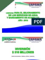 Obras para el mejoramiento de los servicios de agua y saneamiento de Acapulco, año:2010
