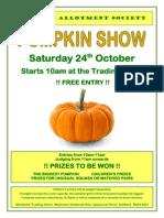 pumpkin show poster 2015