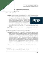 Certificacion de Calidad en Los Archivos Análisis y Prospectiva